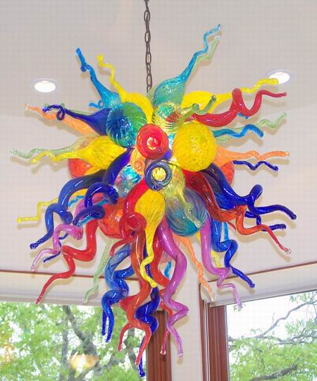 Colorful Free Style Murano Glass Ceiling Light decorative home