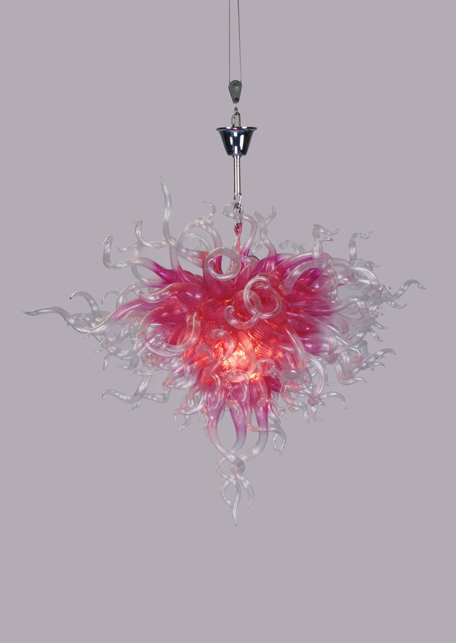 Supply Quality 70 50 Fashionable pink Blown Glass Ceiling Lighting