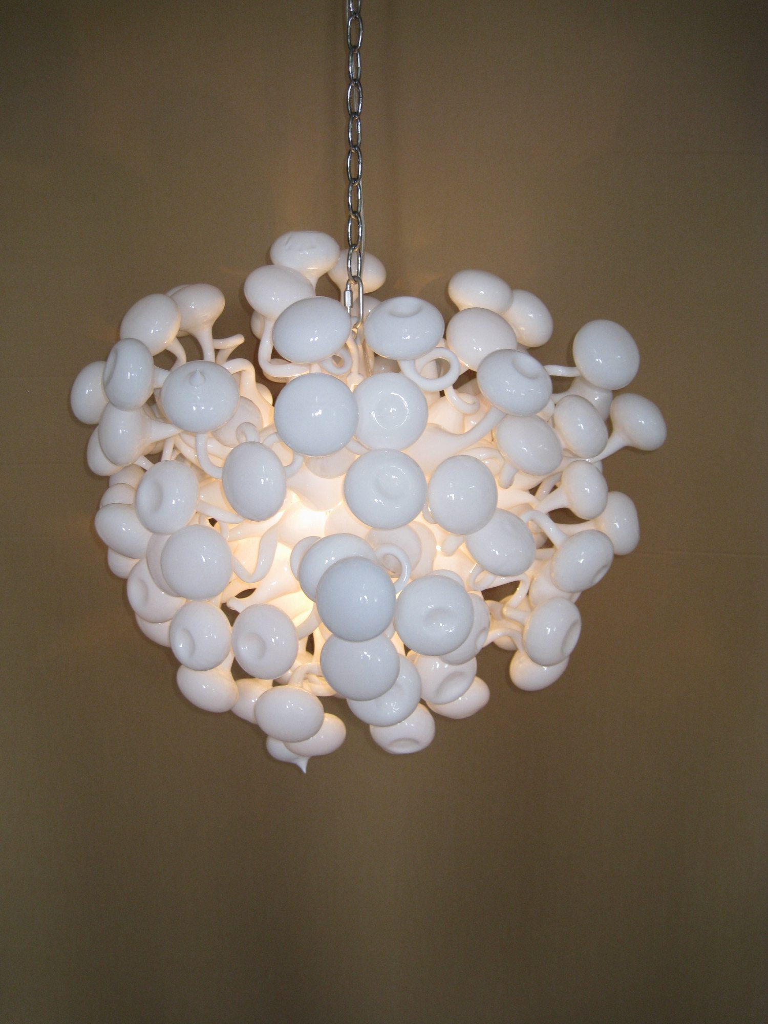 Quality Home Decor Blown Murano Glass White Ball Ceiling Lamp