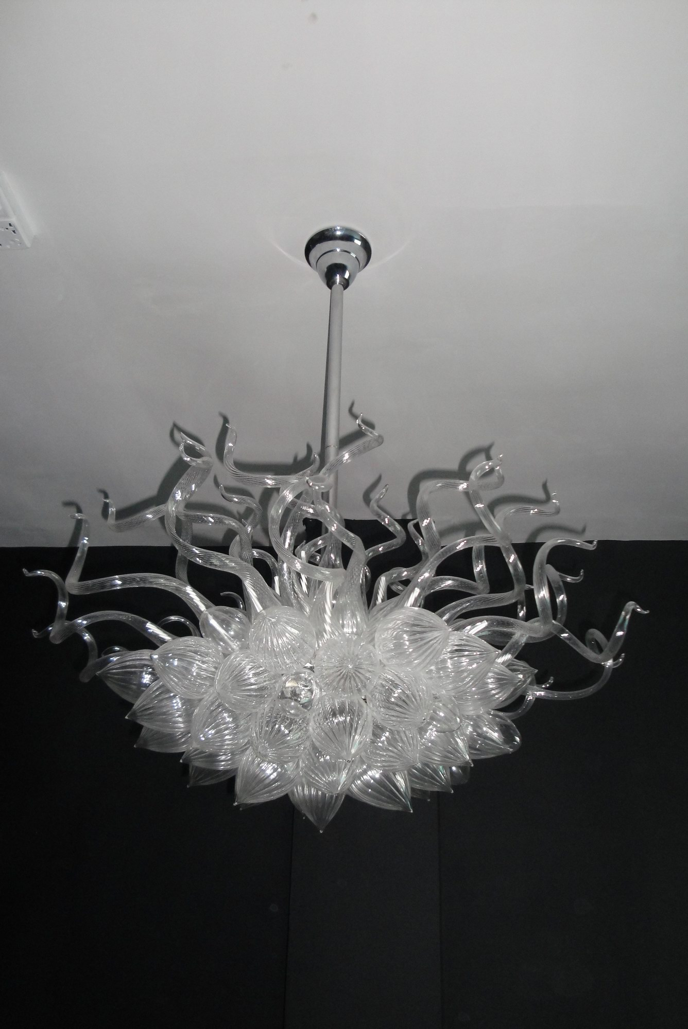 glassblowing white small chandelier decorated hotel