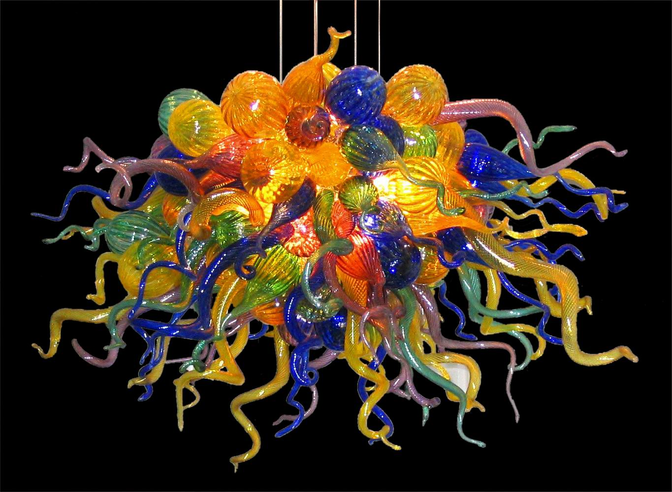 Buy cheap Murano glass modern best-selling color ceiling chandelier